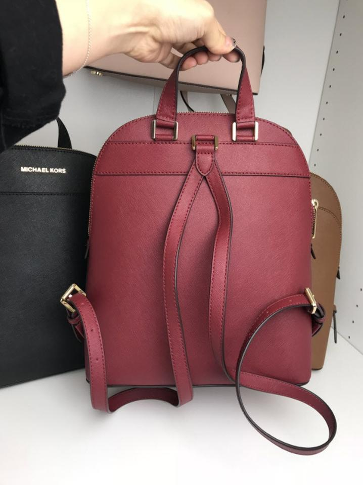 9093756950d7 Michael Kors Emmy Red Mulberry Leather Backpack - Tradesy