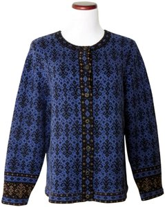 Nomadic Traders Button Closure Heavy Weight Fair Isle Cardigan