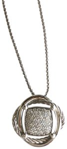 David Yurman David Yurman Crossover Pendant Necklace with Diamonds