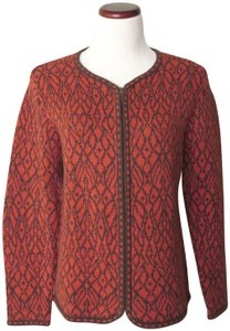 Nomadic Traders Gumps Ikat Design Front Zipper New With Tags Cardigan