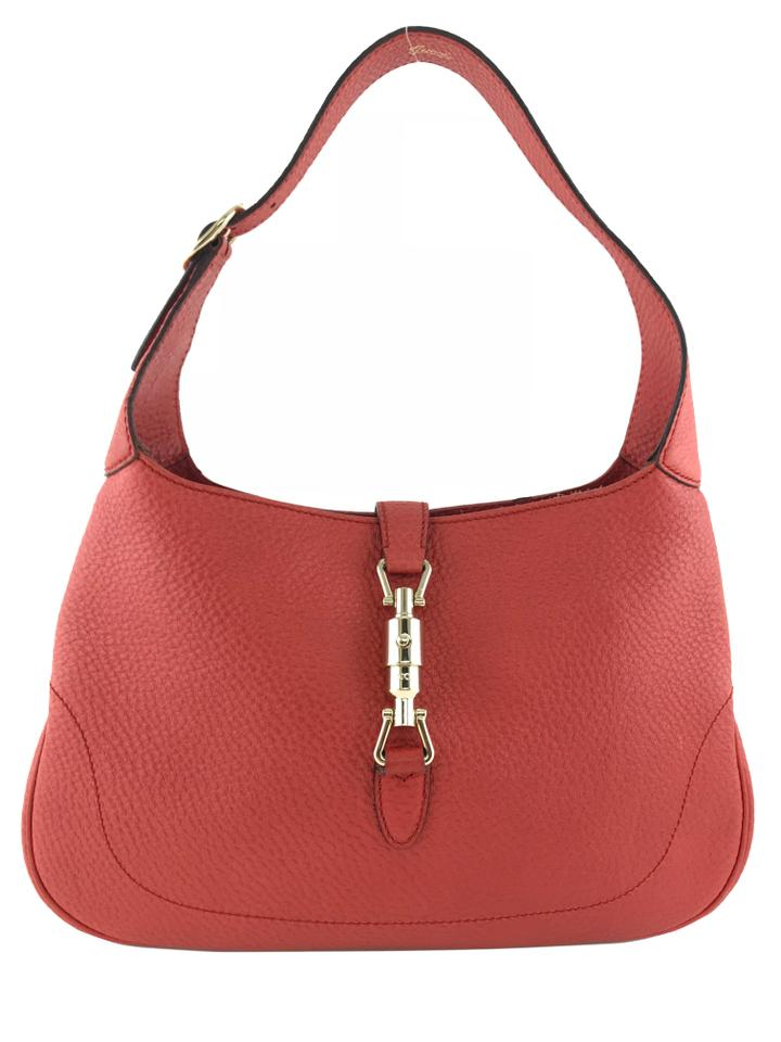 eec2623c074c Gucci Jackie Small Red Leather Hobo Bag - Tradesy
