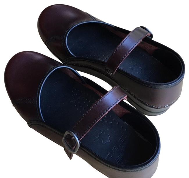 """Item - Cordovan (Maroon) """"marcelle""""stapled Mules/Slides Size EU 37 (Approx. US 7) Regular (M, B)"""