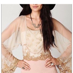 Free People Top Champagne