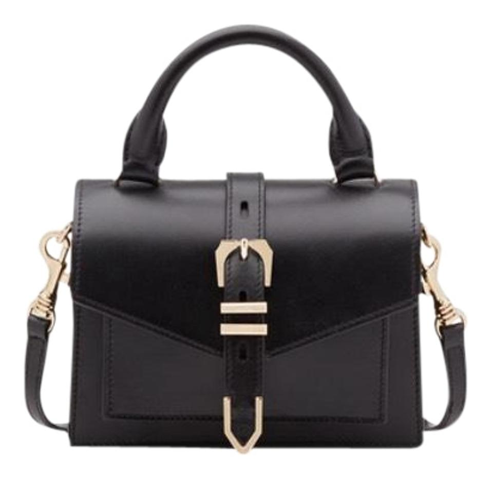 ff70beeb5a Versus Versace Mini Iconic Buckle Euc Black Leather Cross Body Bag 56% off  retail