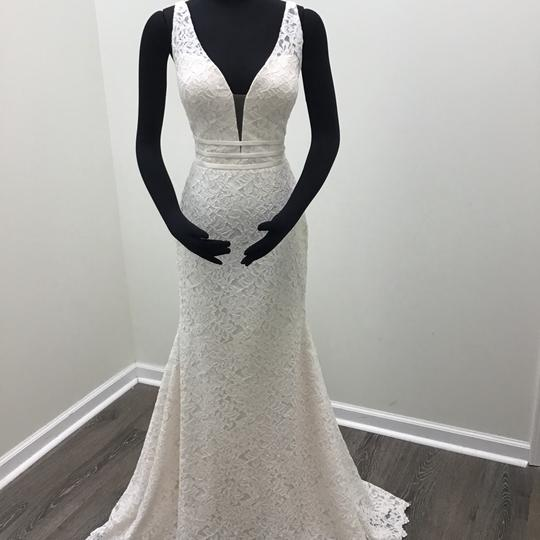 Mikaella Bridal Natural/Pearl Lace Style #2154 Traditional