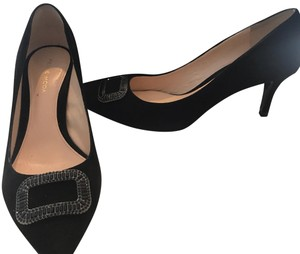 Pelle Moda Suede Cocktail Black Pumps