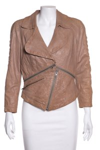 Yigal Azrouël Tan Leather Jacket