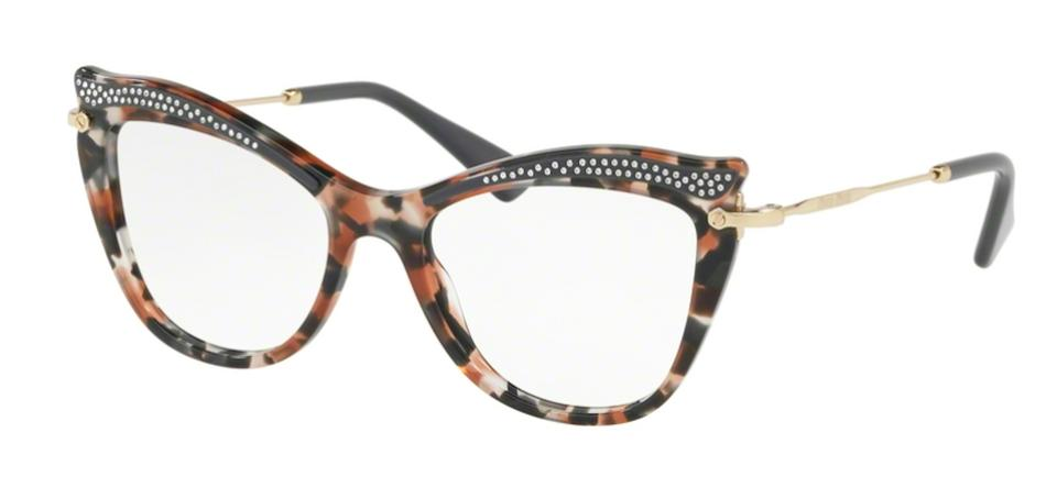 1d48bb714ea Miu Miu Multi Color with Hand Set Swarovski Crystals New Cat Eye Optical  Eye Glasses Vmu 06p 79a101 Free 3 Day Shipping Sunglasses