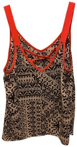 Love on a Hanger Geo Print Moroccan Print Neon Crisscross Strap Work And Play Top multi