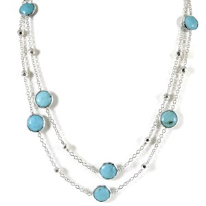 "Ippolita Ippolita Sterling Silver 37"" Rock Candy Turquoise Necklace"
