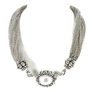 Lagos Lagos Sterling Silver 18K Torsade Necklace with Mabe Pearl Enhancer