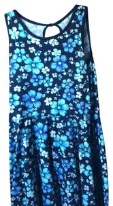 Justice short dress Floral blue and green on Tradesy