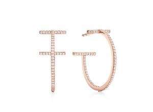 Tiffany & Co. T wire hoop Earrings