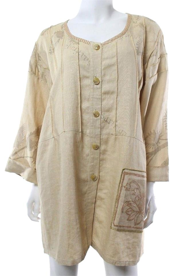 309fa7cbd866a Beige Linen Art To Wear Lagenlook Tunic Size OS (one size) 69% off retail