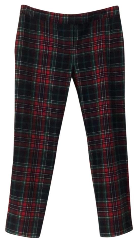 53564b600f Vineyard Vines Red Blue Plaid Holiday Tartan Ankle Pants Size 4 (S ...