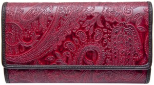 Relic Relic Maroon Paisley Print Leather Wallet