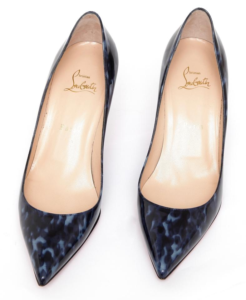 425759de2e2d Christian Louboutin Patent Leather Decollete 554 70 Mm Navy Blue Pumps  Image 7. 12345678