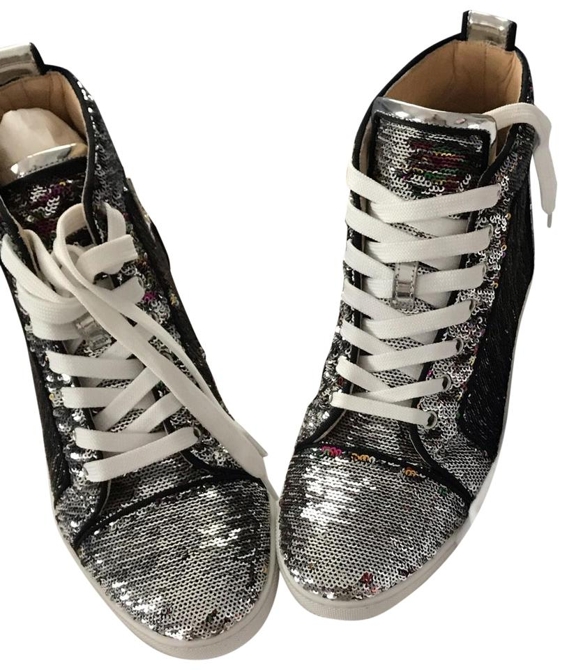 771c82816956 Christian Louboutin Silver Sequins Bip Bip Woman Orlato Sneakers ...