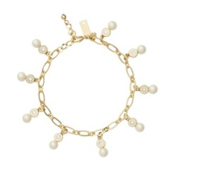 Kate Spade NWT KATE SPADE PEARLY DELIGHT CHARM BRACELET GOLD TONE W DUST BAG