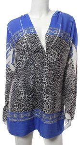 Cache Sublimation Leopard Knit Hooded Sweater