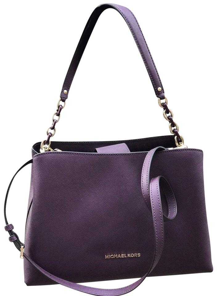 98b22341271f Michael Kors Sofia Large Saffiano Portia Damson Purple Leather ...
