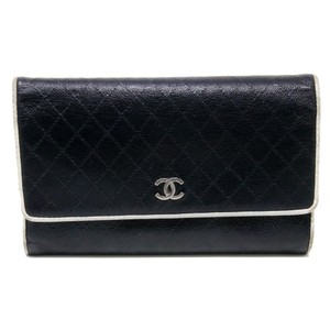 Chanel Classic Micro Stitch Wild Diamond Quilted Long Flap Chrome CC Wallet