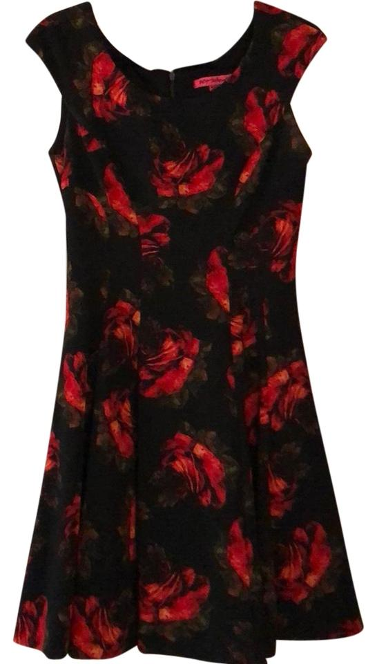 35c7b1e82ac0d Betsey Johnson Black and Red Mid-length Cocktail Dress Size 6 (S ...
