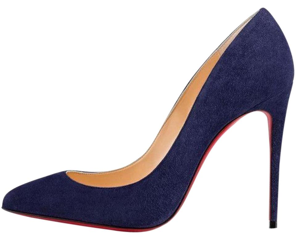 447b569d6813 Christian Louboutin Stiletto Pigalle Follies Suede China Blue Pumps Image 0  ...