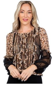 Lulumari Top Brown and Black