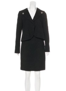 Chanel Like New Black Chanel Wool Skirt Suit from Iconic Fall 2009