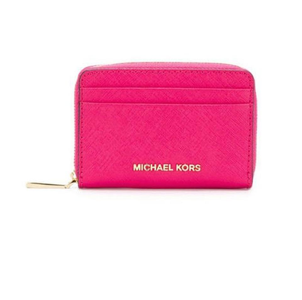 db8f003ed30b18 Michael Kors Michael Kors Money Pieces Leather Card Case Wallet Image 0 ...
