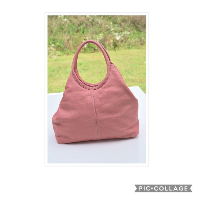 Item - Carnation Pink Leather Hobo Bag