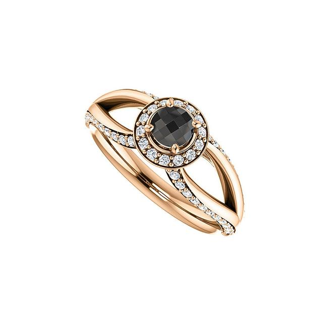 Unbranded Black Onyx and Cz Open Leaf In 14k Gold Vermeil Ring Unbranded Black Onyx and Cz Open Leaf In 14k Gold Vermeil Ring Image 1