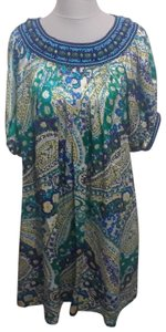 Andrew Gn short dress Green, Purple Beaded Paisley on Tradesy