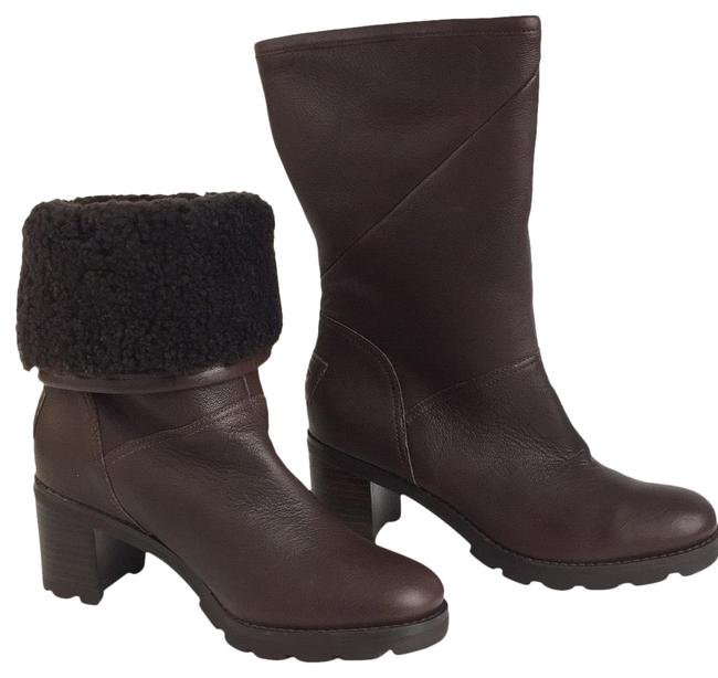 UGG Australia Brown New Uggs Leather Sheepskin Fur Boots/Booties Size US 7 Regular (M, B) UGG Australia Brown New Uggs Leather Sheepskin Fur Boots/Booties Size US 7 Regular (M, B) Image 1