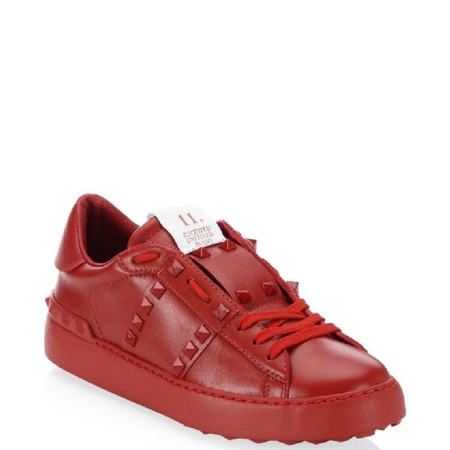 Valentino Red Star Leather Canvas Low Top Trainers Sneakers Size EU 36.5 (Approx. US 6.5) Regular (M, B) Valentino Red Star Leather Canvas Low Top Trainers Sneakers Size EU 36.5 (Approx. US 6.5) Regular (M, B) Image 1