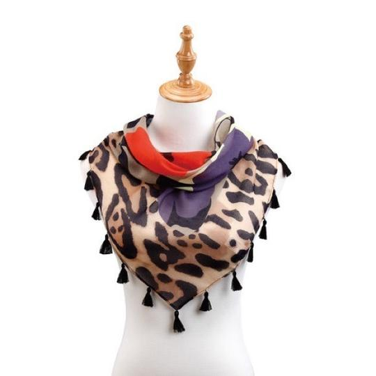 Preload https://img-static.tradesy.com/item/24131935/mixed-ds-tasseled-triangle-floral-on-animal-print-scarfwrap-0-0-540-540.jpg