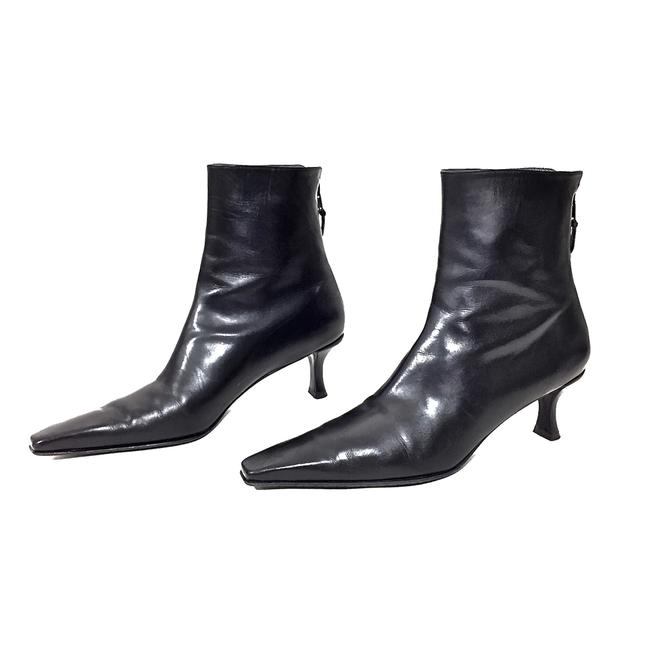 Item - Black Leather Ankle Boots/Booties Size US 7.5 Narrow (Aa, N)