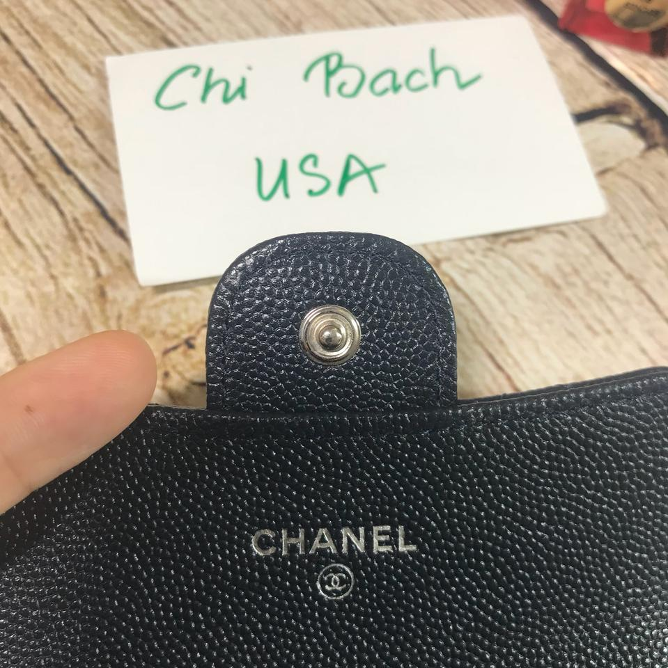 913e1c81fd98 Chanel Chanel Navy Classic Flap Card Holder In Caviar with SHW Wallet Image  9. 12345678910