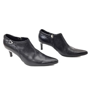Ralph Lauren Collection Leather Silver Hardware Black Boots