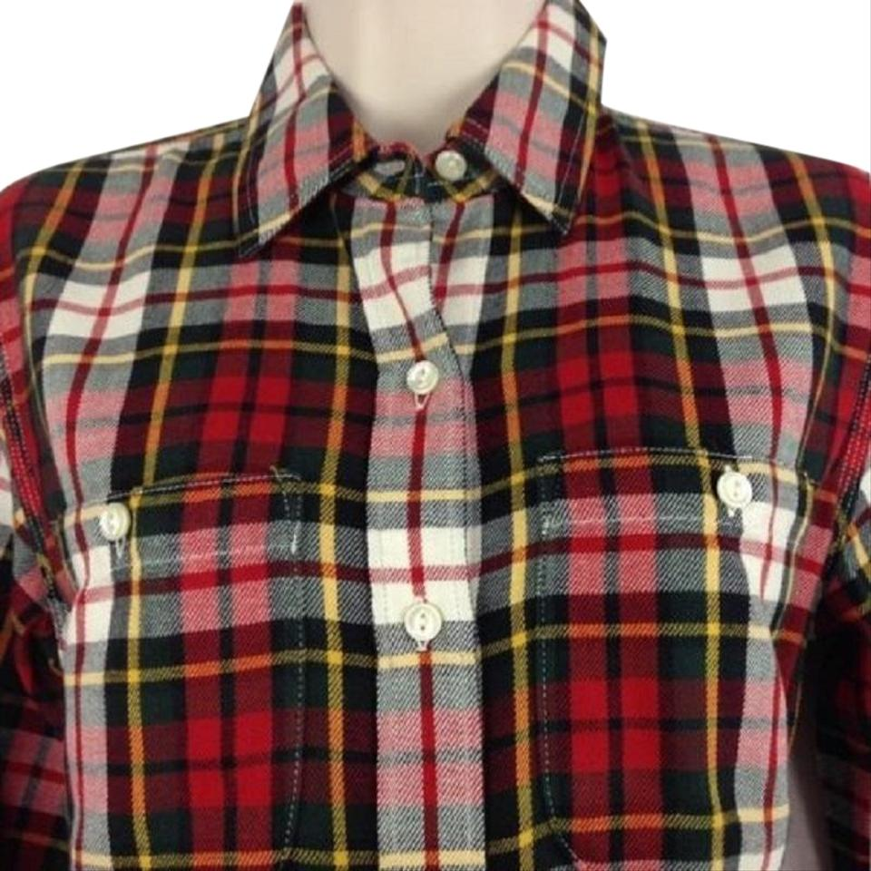 89b46ebb Lauren Ralph Lauren Lrl Jeans Co. Women's Button Up Plaid Red & Green  Button-down Top Size 26 (Plus 3x)