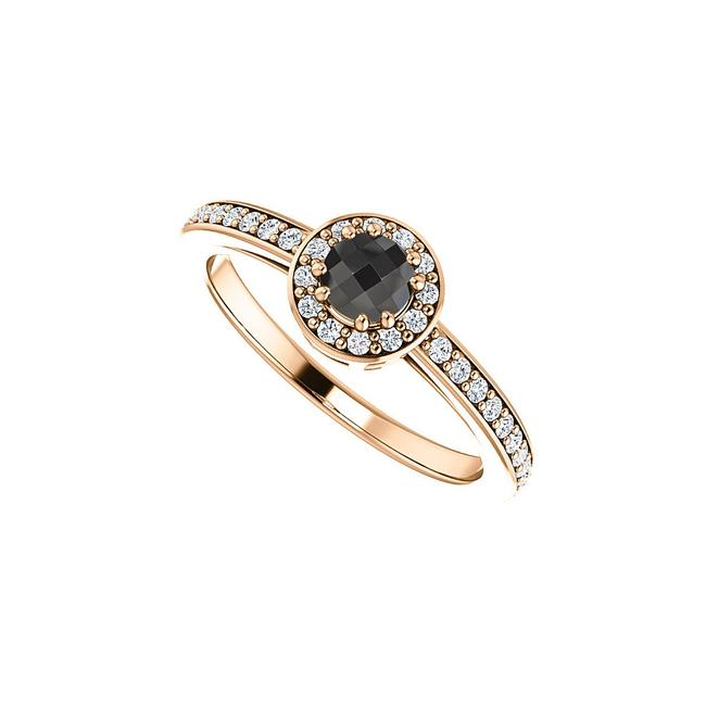 Unbranded Black Round Onyx and Cubic Zirconia Gold Vermeil Ring Unbranded Black Round Onyx and Cubic Zirconia Gold Vermeil Ring Image 1