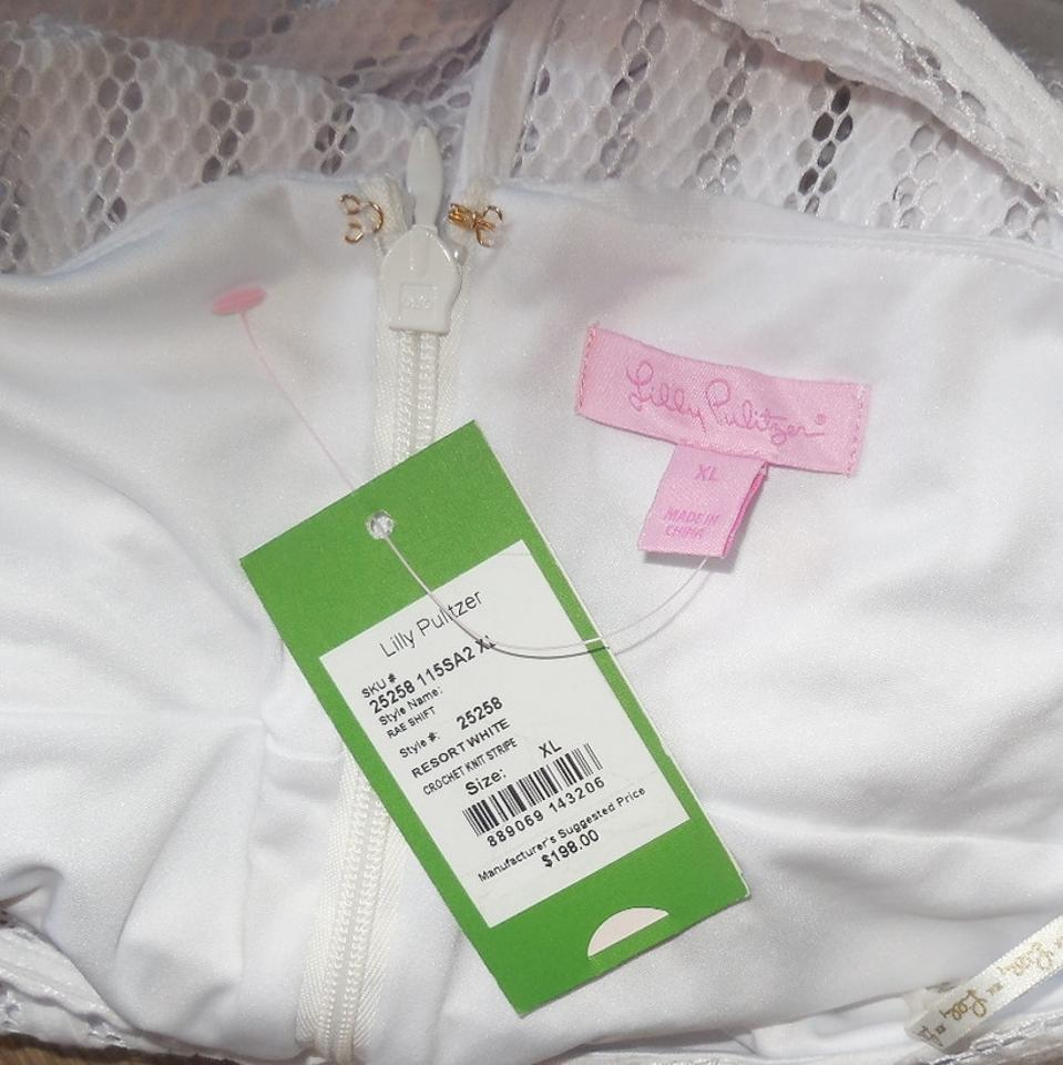 93780aaa4bf913 Lilly Pulitzer White Resort Rae Xl Short Casual Dress Size 16 (XL ...
