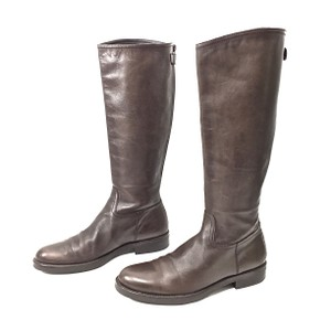 Studio Pollini Leather Knee High Riding Brown Boots