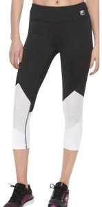 Fila NWT Black and White Mesh Insert Fila Leggings