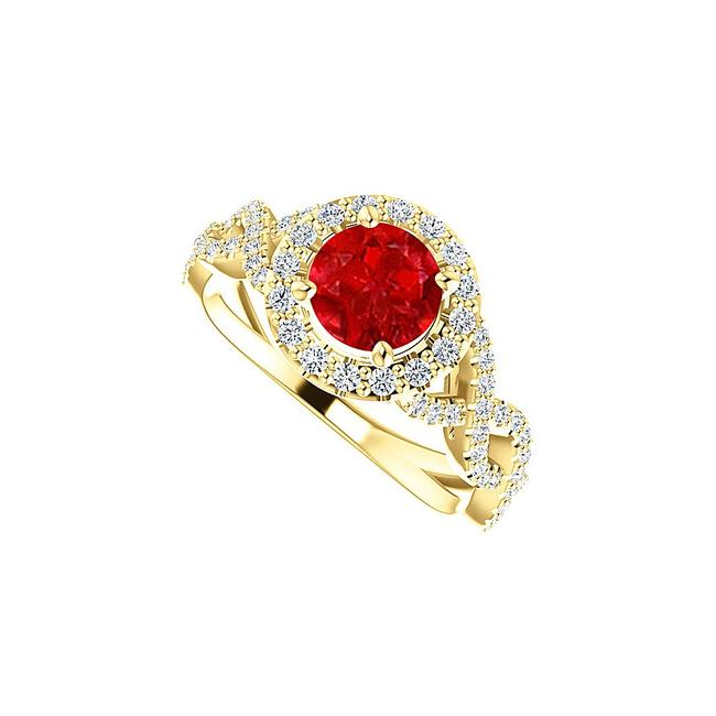 Unbranded Red Ruby Cubic Zirconia Cross Over 18k Gold Vermeil Ring Unbranded Red Ruby Cubic Zirconia Cross Over 18k Gold Vermeil Ring Image 1