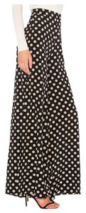 Alexis With Tags Wide Leg Pants Black & Cream Dots