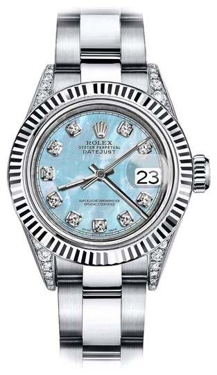 Preload https://img-static.tradesy.com/item/24132760/rolex-stainless-steel-baby-blue-pearl-tr-26mm-datejust-ss-and-18k-gold-bezel-w-diamond-watch-0-1-540-540.jpg
