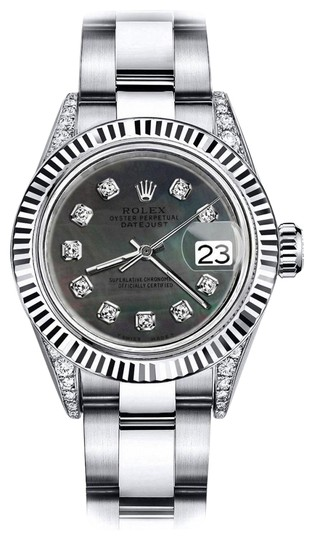 Preload https://img-static.tradesy.com/item/24132803/rolex-stainless-steel-black-pearl-roman-26mm-datejust-ss-and-18k-gold-bezel-with-diamond-watch-0-1-540-540.jpg