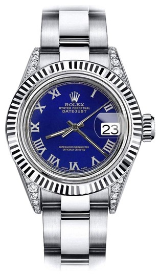 Preload https://img-static.tradesy.com/item/24132941/rolex-stainless-steel-blue-roman-26mm-datejust-18k-white-gold-bezel-watch-0-1-540-540.jpg